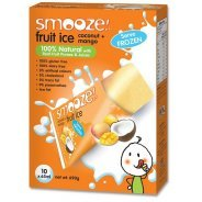 Smooze Fruit Ice - Natural Mango & Coconut - 10 x 65ml Freezer Packs