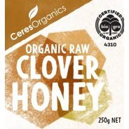 Clover Honey (Organic, Raw) - 250g
