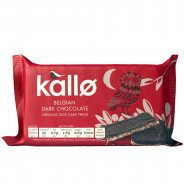 Kallo Rice Cake Thins, Dark Chocolate (Organic, Gluten Free)