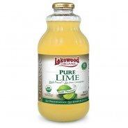 Lakewood Juice, Pure Lime (Organic, no added sugar) - 946ml