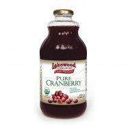 Lakewood Juice, Pure Cranberry (Organic, no added sugar) - 946ml