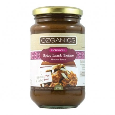 Moroccan Spicy Lamb Tagine Simmer Sauce (organic) - 6 x 375g jars (boxed)