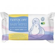 Natracare Cotton Baby Wipes (Organic, Biodegradable) - 50pk