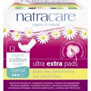 Natracare Organic Ultra Extra Pads With Wings, Normal 12s