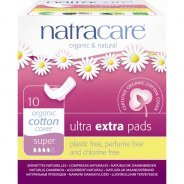 Natracare Organic Ultra Extra Pads With Wings Super 10s