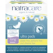 Natracare Organic Ultra Pads With Wings, Long 10s