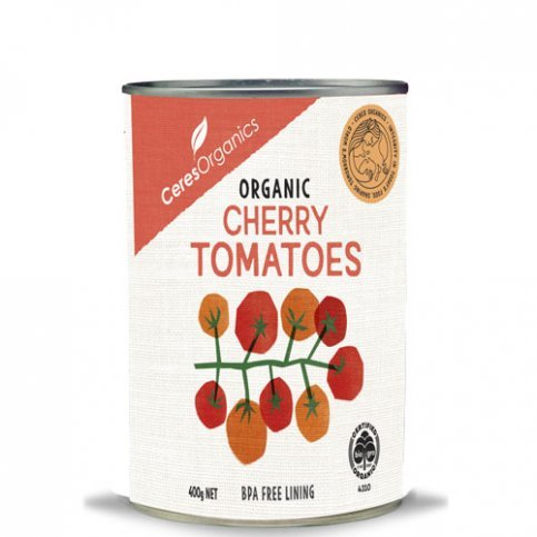 Tomatoes, Whole Cherry (Ceres, Organic, Gluten free) - 12 x 400g can carton