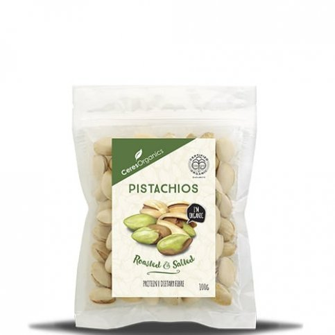 Pistachios, Roasted & Salted (Ceres, Organic) - 100g