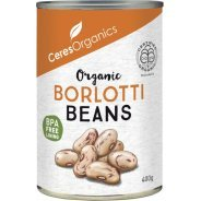 Borlotti Beans (organic, gluten free) - 400g can