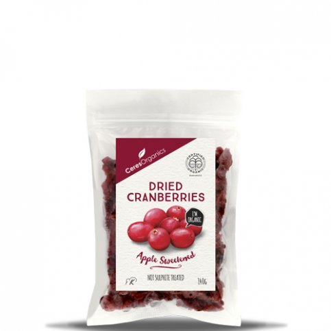 Cranberries, ORGANIC (dried, apple juice sweetened, no preservatives) - 140g