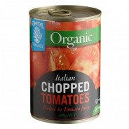 Tomatoes, Chopped (Chantal, Organic, Gluten Free) - 400g can