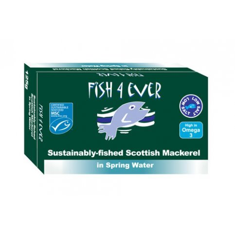 Fish 4 Ever Scottish Mackerel  (Sustainably Fished) - 125g