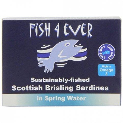Fish 4 Ever Scottish Sardines (Sustainably Fished) - 125g