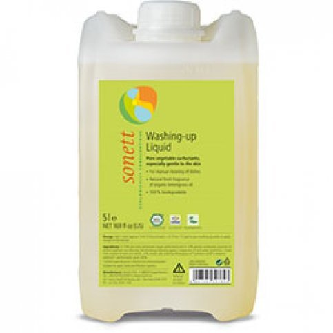 Dishwashing Liquid, Lemon (Bulk, Sonett, Vegan, Biodegradable) - 5L & 20L